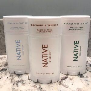NWT 3/$21 or 1/$8 Native Deodorant